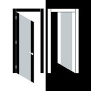 Покраска лицевой и тыльной стороны дверного блока в два разных цвета