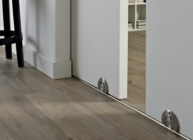 раздвижные двери с нижней направляющей
