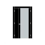 Двустворчатая дверь при ширине малой створки 10-35 см