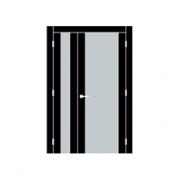Двустворчатая дверь при ширине малой створки 35-50 см